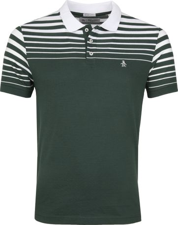 Original Penguin Poloshirt Stripe Green