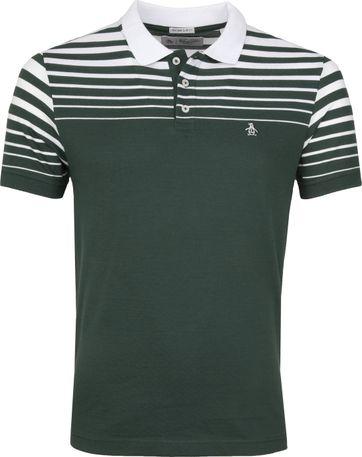 Original Penguin Poloshirt Stripe Grün