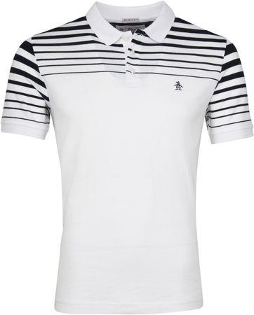 Original Penguin Poloshirt Stripe Weiß