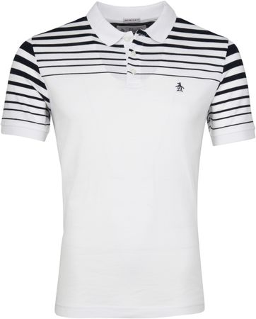 Original Penguin Poloshirt Stripe White