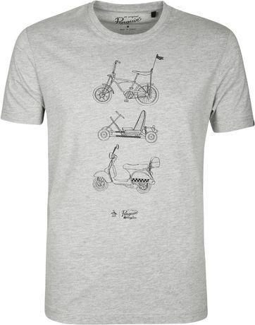 Original Penguin T-shirt Print Grijs