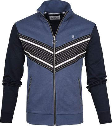 Original Penguin Zipper Retro Blauw