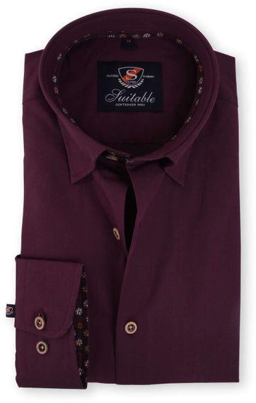Overhemd Bordeaux 117-5