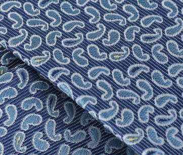 Detail Paisley Stropdas Middenblauw
