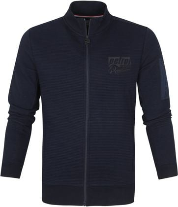 Petrol Cardigan Collar Navy