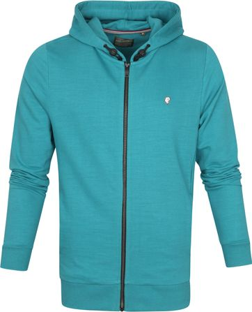 Petrol Cardigan Hooded Green