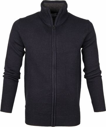 Petrol Cardigan Knitted Navy
