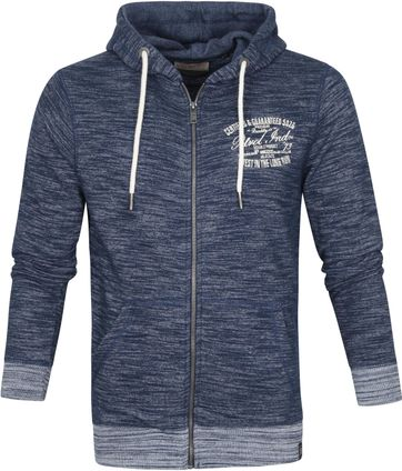 Petrol Cardigan Zipper Dark Blue