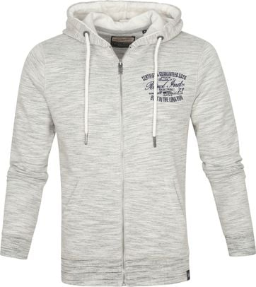Petrol Cardigan Zipper Grey