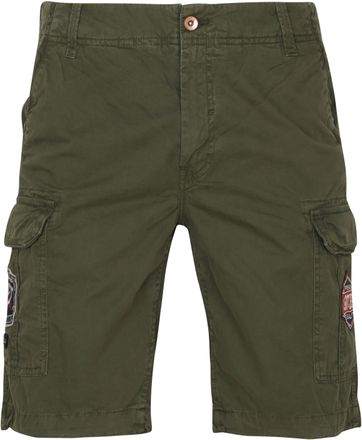 Petrol Cargo Shorts Dark Army