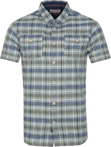 Petrol Casual Shirt Short Sleeves Checks