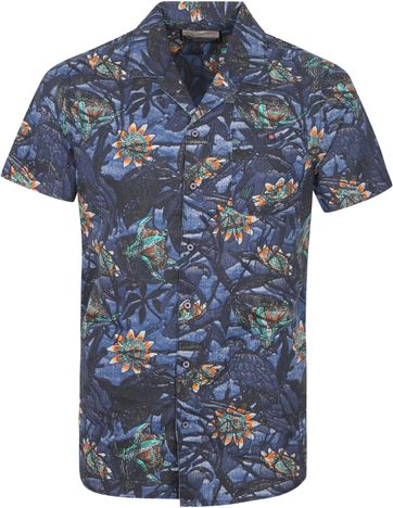 Petrol Casual Shirt Short Sleeves Flower Multicolour