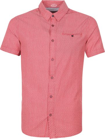 Petrol Casual Shirt Short Sleeves Red