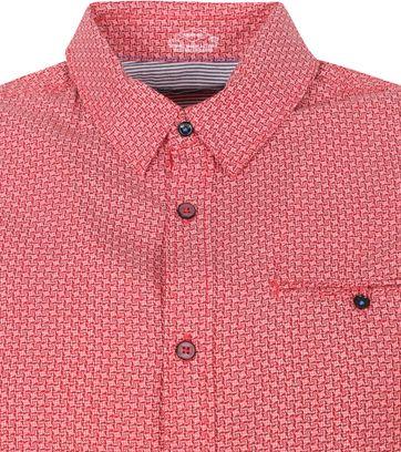 Petrol Casual Shirt Short Sleeves Red