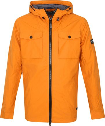 Petrol Hooded Parka Orange