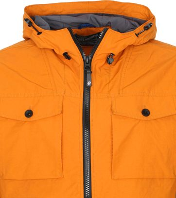 Petrol Hooded Parka Orange