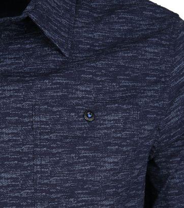 Petrol Overhemd Gemêleerd Donkerblauw