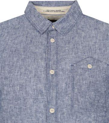 Petrol Overhemd Indigo Blauw