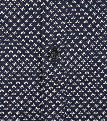 Petrol Overhemd Moderne Ruit Donkerblauw