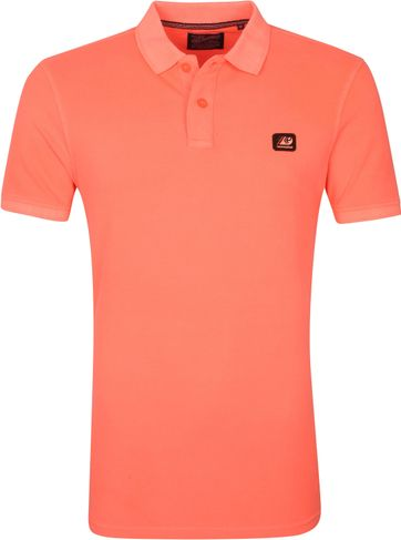 Petrol Polo Shirt Neon Orange