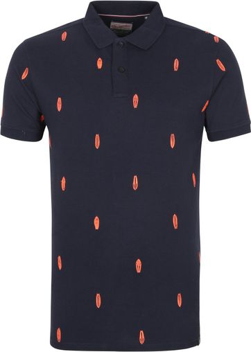 Petrol Polo Shirt Pattern Navy