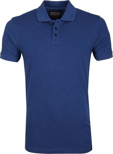 Petrol Poloshirt Blau Design