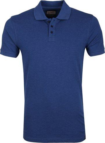 Petrol Poloshirt Blauw Dessin