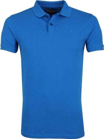 Petrol Poloshirt Effen Blauw