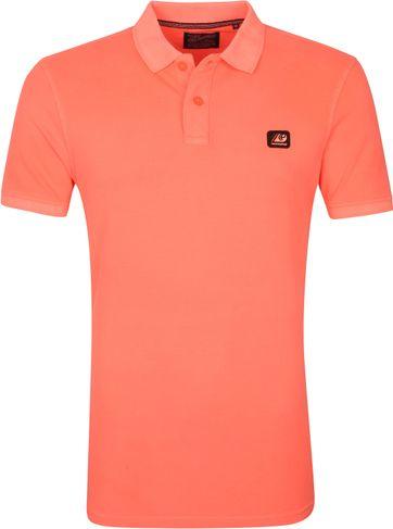Petrol Poloshirt Neon Orange