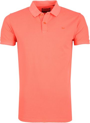 Petrol Poloshirt Plane Bright Orange