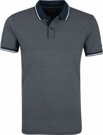 Petrol Poloshirt Turquoise Patroon