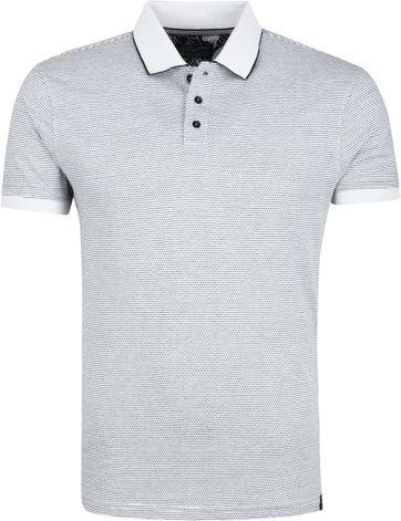 Petrol Poloshirt Weiß Dunkelblau Design