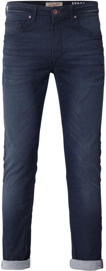 Petrol Seaham Coated Jeans Donkerblauw