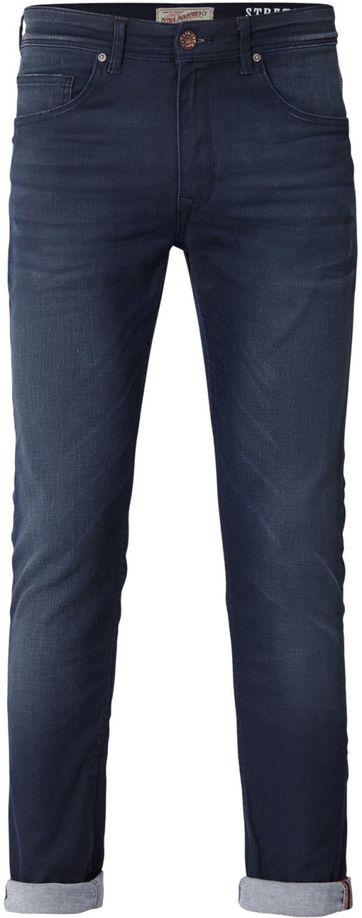 Petrol Seaham Coated Jeans Dunkelblau