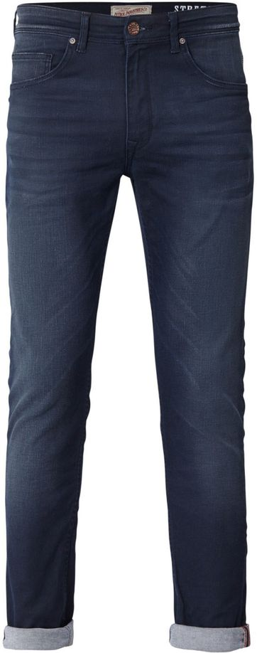 Petrol Seaham Coated Jeans Navy