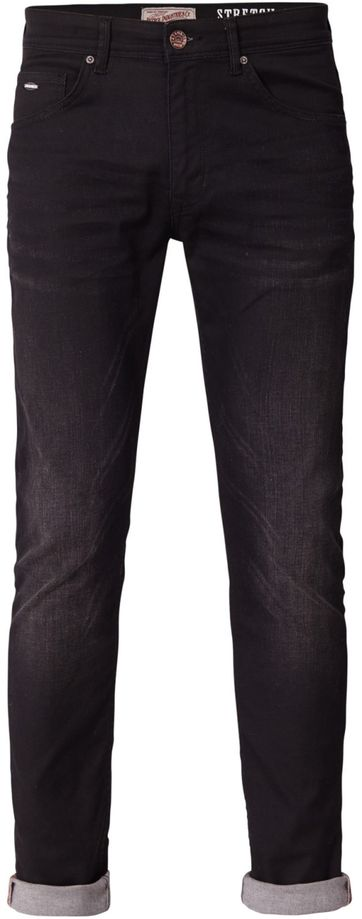 Petrol Seaham Coated Jeans Schwarz