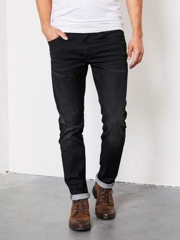 Petrol Seaham Coated Jeans Schwarz