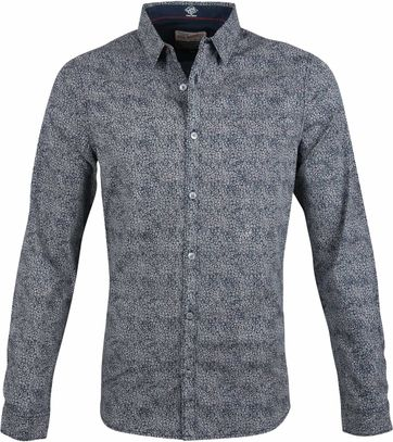 Petrol Shirt Flower Dessin Navy
