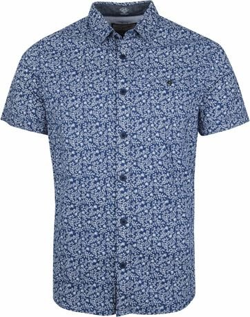 Petrol Shirt Flowers Navy