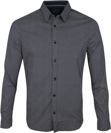 Petrol Shirt Modern Checks Navy