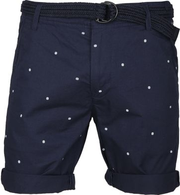 Petrol Short Print Dark Blue