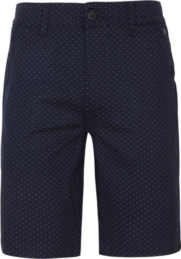 Petrol Shorts Miniprint Navy