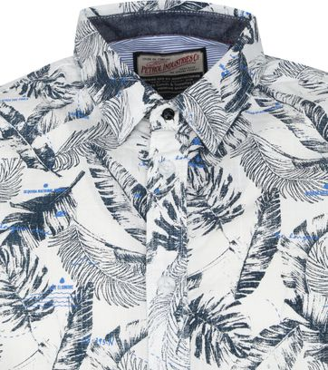 Petrol SS Shirt Flowers Navy