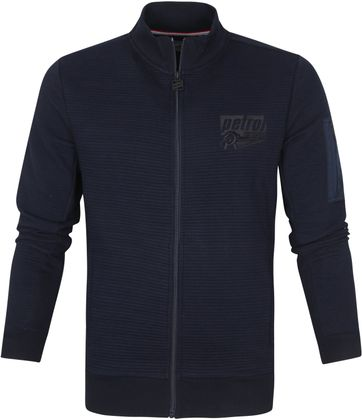 Petrol Strickjacke Collar Navy