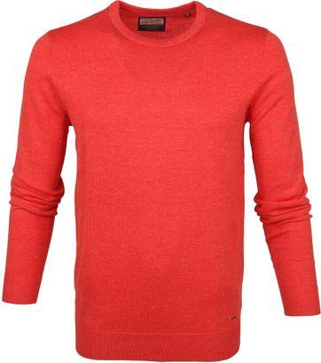 Petrol Sweater Gestrickt Rot
