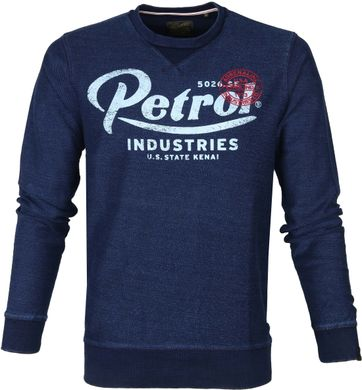 Petrol Sweater Logo Navy