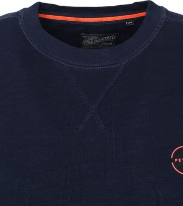Petrol Sweater R-Neck Logo Darkblue