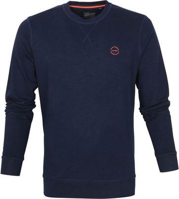 Petrol Sweater R-Neck Logo Dunkelblau