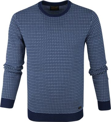 Petrol Sweater Stripes Blue