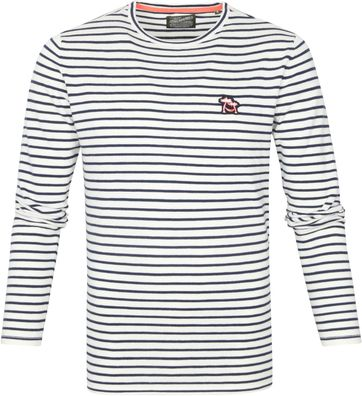 Petrol Sweater Stripes Dark Blue